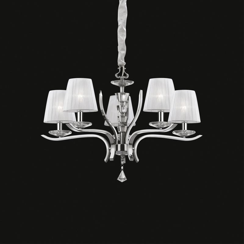 Ideal Lux 066448 Pegaso SP5 Bianco kristály csillár