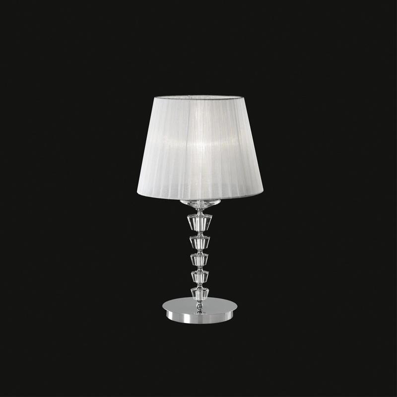 Ideal Lux 059259 Pegaso TL1 Big Bianco kristály asztali lámpa