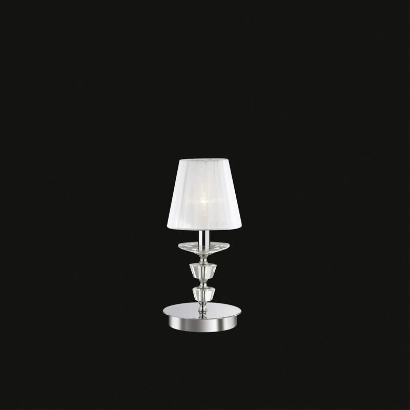 Ideal Lux 059266 Pegaso TL1 Small Bianco kristály asztali lámpa