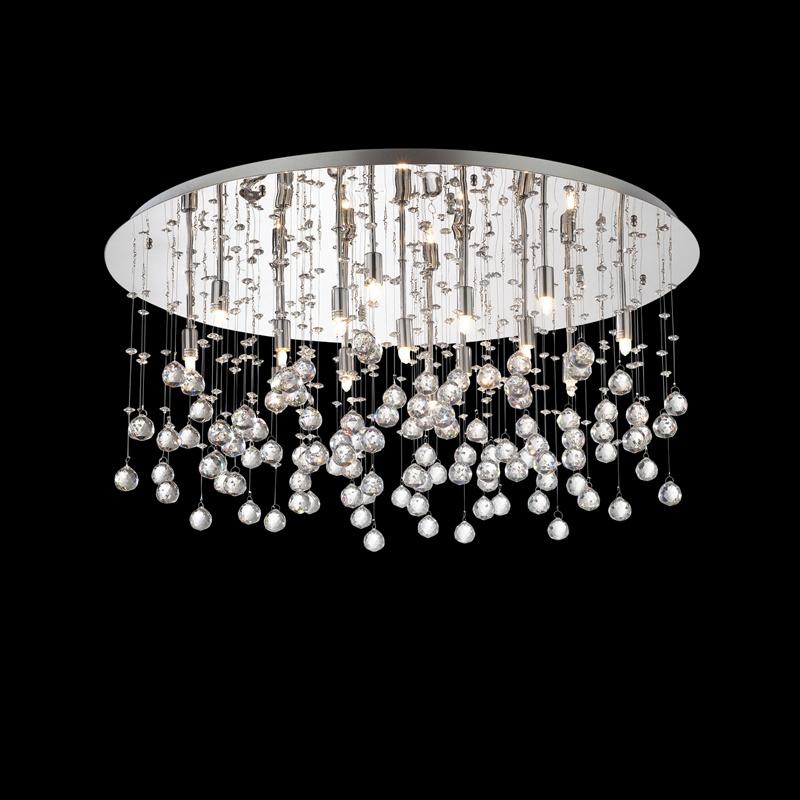 Ideal Lux 077819 Moonlight PL15 Cromo kristály mennyezeti lámpa