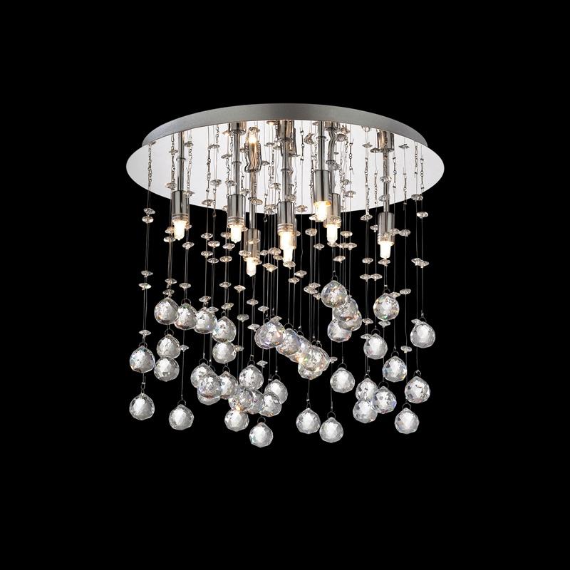 Ideal Lux 077796 Moonlight PL8 Cromo kristály mennyezeti lámpa