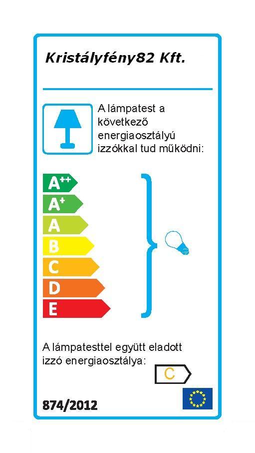 Ideal Lux 017617 Elica AP2 falilámpa