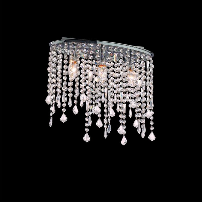 Ideal Lux 008370 Rain PL3 Clear kristály mennyezeti lámpa
