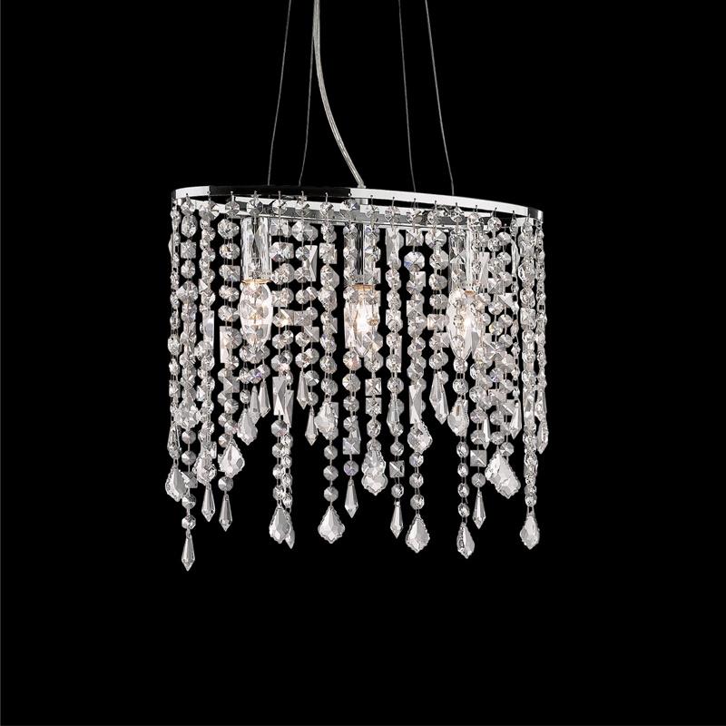 Ideal Lux 008349 Rain SP3 Clear kristály lámpa függeszték