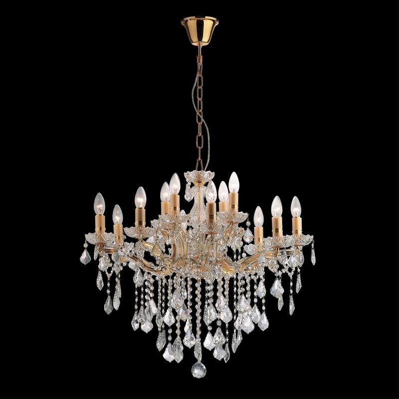 Ideal Lux 035611 Florian SP12 Oro kristály csillár