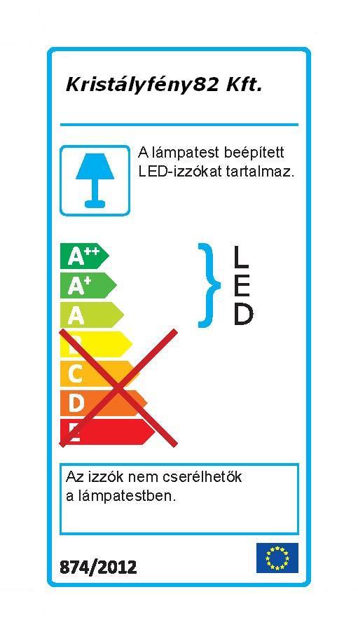 Ideal Lux 031477 Dynamo AP1 Nickel Led falilámpa