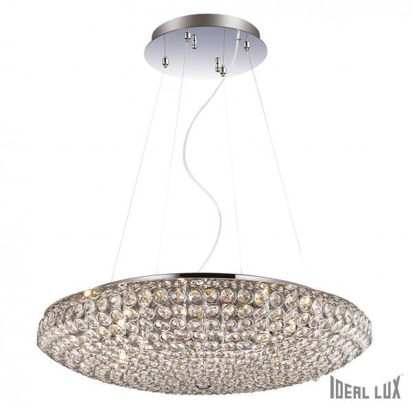 Ideal Lux 088013 King SP12 Cromo kristály függeszték lámpa