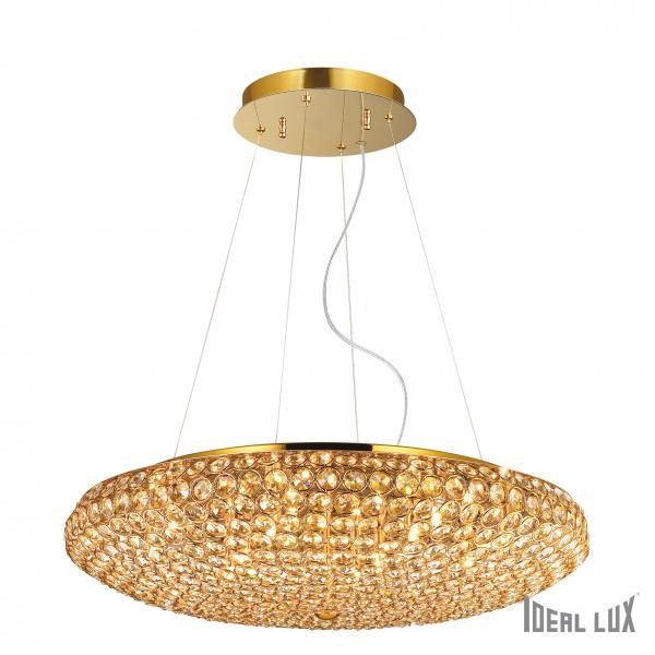 Ideal Lux 088020 King SP12 Oro kristály függeszték lámpa