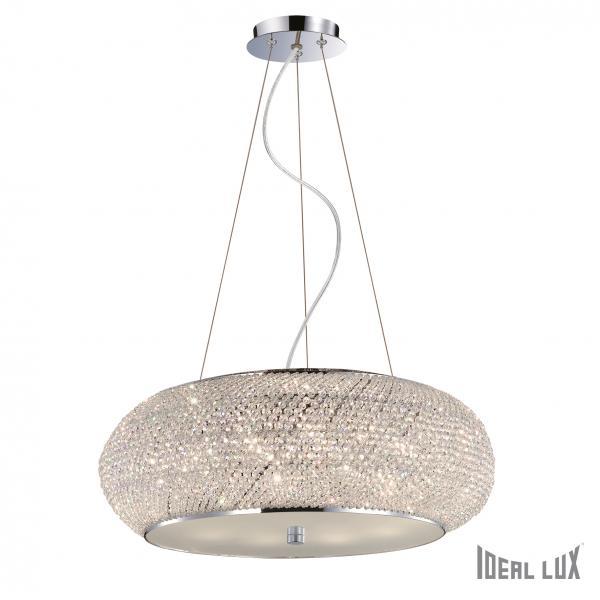 Ideal Lux 082196 Pashá SP10 Cromo kristály függeszték
