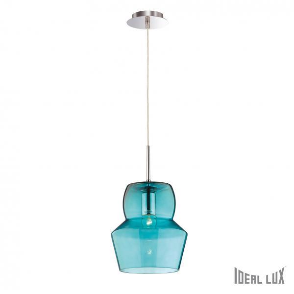 Ideal Lux 088969 Zeno SP1 Big Azzurro lámpa függeszték