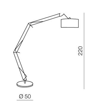 AZzardo AZ-1028 Bosse állólámpa / AZzardo AZ-FL-13072-BL /