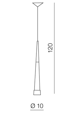 AZzardo AZ-0954 Brina LED függeszték / AZzardo AZ-LP9003-1BL /