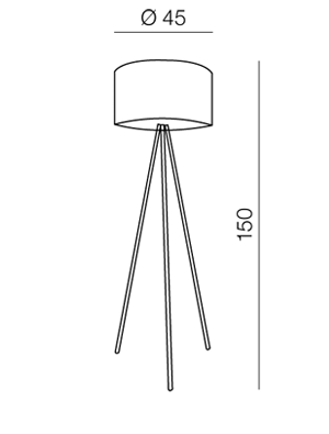 AZzardo AZ-1037 Finn állólámpa / AZzardo AZ-FL-12025-WH /