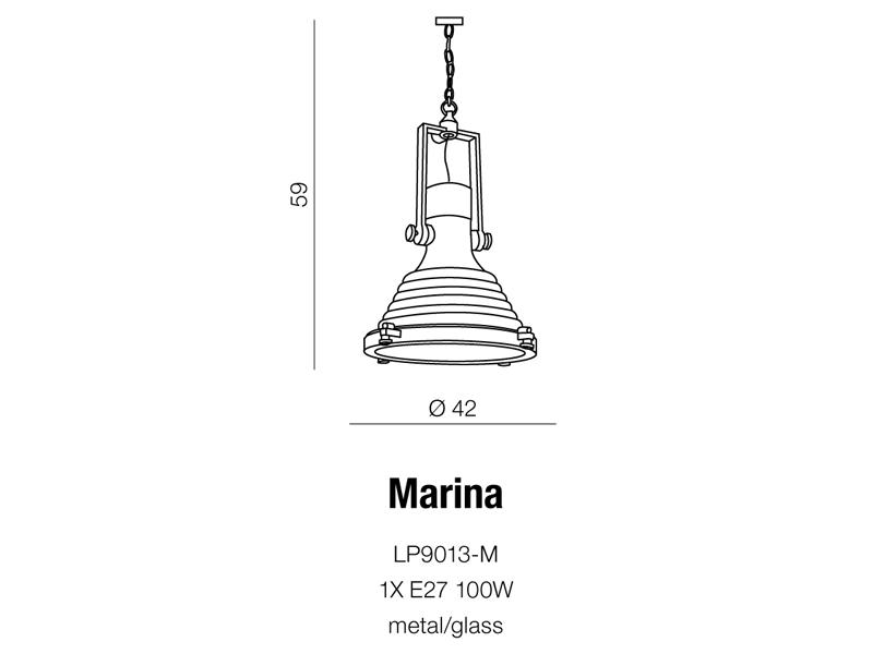 AZzardo AZ-0980 Marina függeszték / AZzardo AZ-LP9013-M /