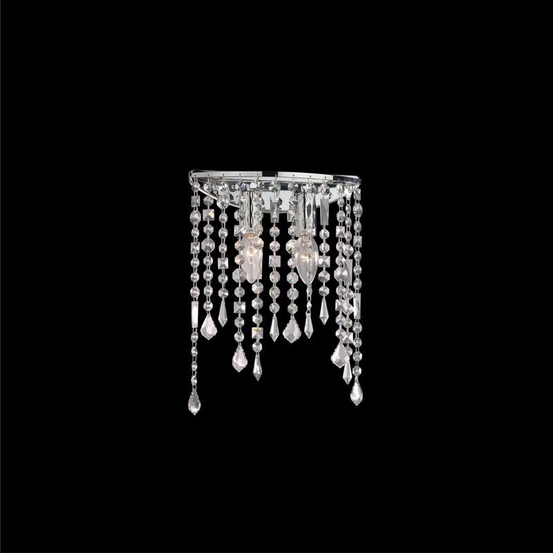 Ideal Lux 008325 Rain AP2 Clear kristály falilámpa