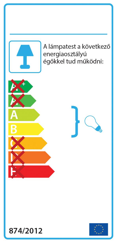 AZzardo AZ-0201 Archo fali lámpa / Azzardo AZ-AX6068-55WALU / lámpa