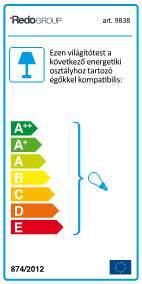 Redo Bari 9840 kültéri klasszikus állólámpa