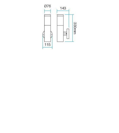 Redo Colonna 9050 kültéri modern fali lámpa / Redo / lámpák