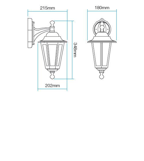 Redo London 6102R kültéri klasszikus fali kar / Redo / lámpák