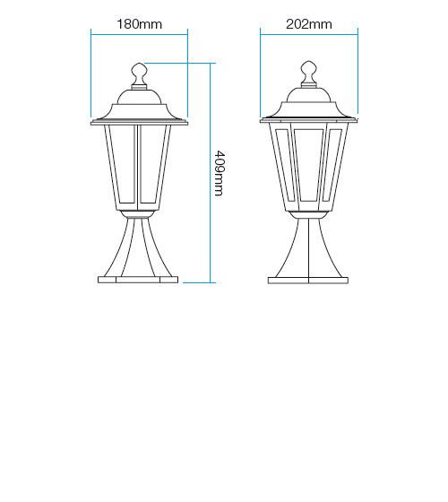 Redo London 6104R kültéri klasszikus állólámpa / Redo / lámpák