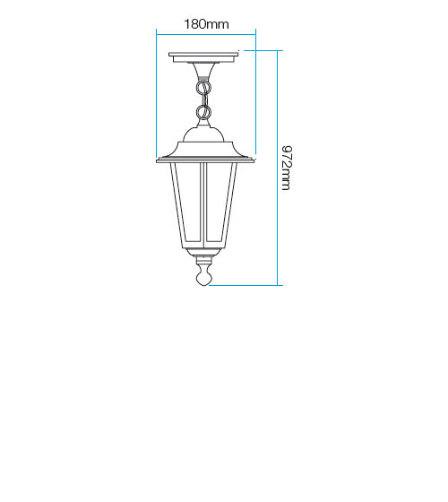 Redo London 6105C kültéri klasszikus 1 ágú függeszték / Redo / lámpák