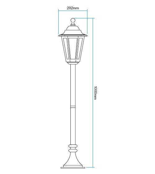 Redo London 6110R kültéri klasszikus állólámpa / Redo / lámpák