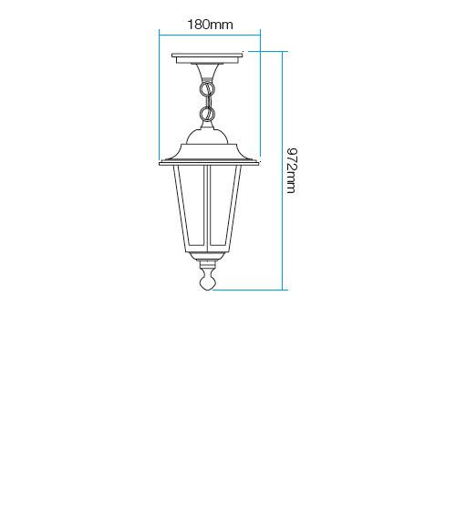 Redo London 6105N kültéri klasszikus 1 ágú függeszték / Redo / lámpák