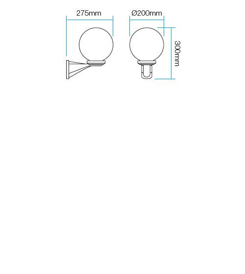 Redo Sfera1 9787 kültéri modern fali kar / Redo / lámpák