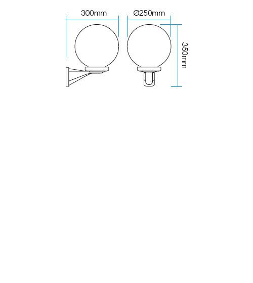 Redo Sfera2 9789 kültéri modern fali kar / Redo / lámpák