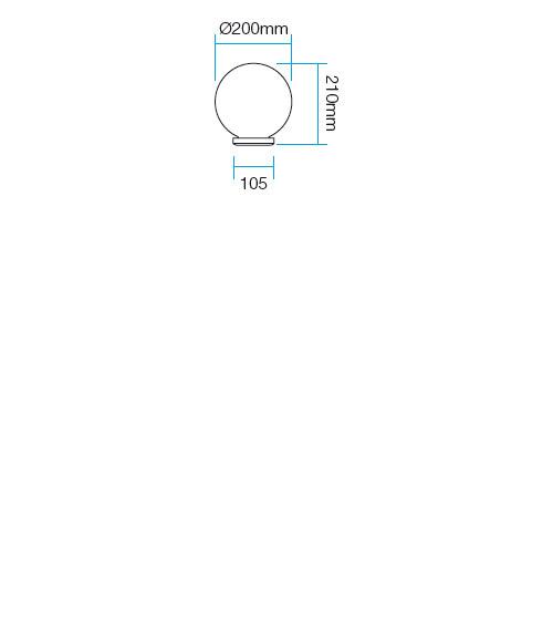 Redo Sfera1 9761 kültéri modern mennyezeti lámpa / Redo / lámpák