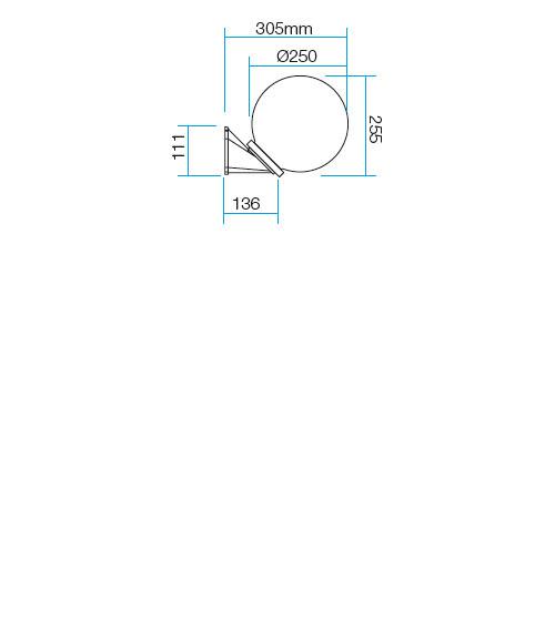 Redo Sfera 9873 kültéri modern fali lámpa / Redo / lámpák