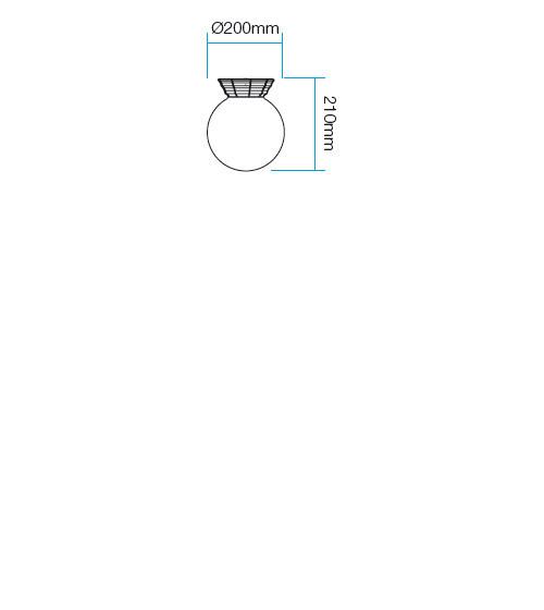 Redo Sfera 9868 kültéri modern fali / mennyezeti lámpa / Redo / lámpák