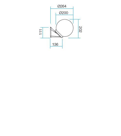 Redo Sfera 9867 kültéri modern fali lámpa / Redo / lámpák