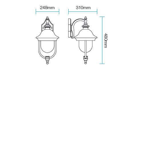 Redo Verona 9275 kültéri klasszikus fali lámpa / Redo / lámpák