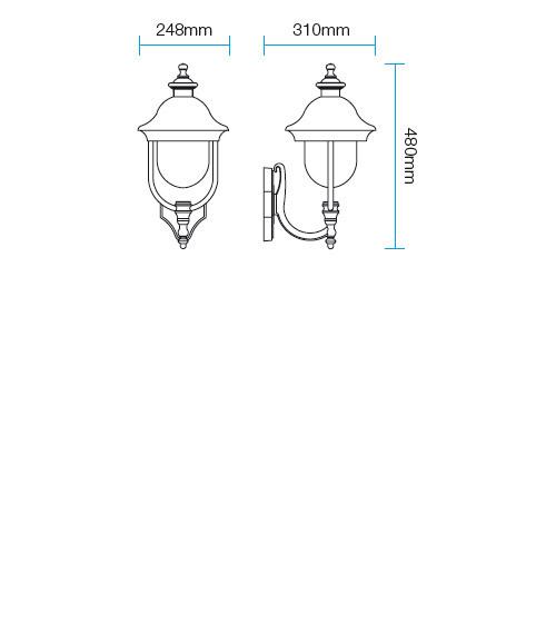 Redo Verona 9276 kültéri klasszikus fali lámpa / Redo / lámpák