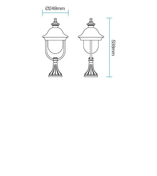Redo Verona 9278 kültéri klasszikus állólámpa / Redo / lámpák