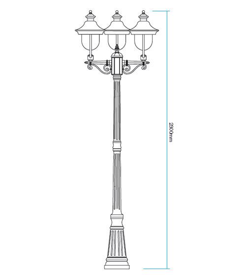 Redo Verona 9272 kültéri klasszikus állólámpa / Redo / lámpák