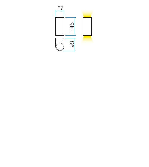 Redo Scan 9352 kültéri modern fali lámpa / Redo / lámpák