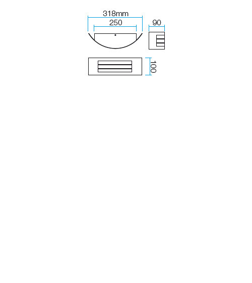 Redo Linea 9357 kültéri modern fali lámpa / Redo / lámpák