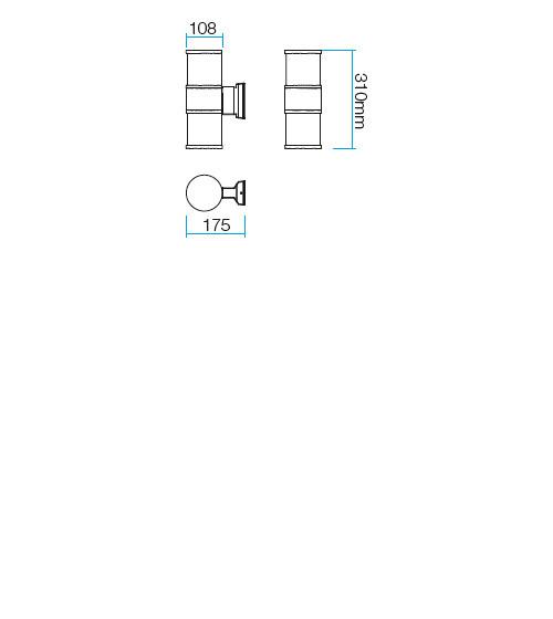 Redo Exter 9327 kültéri modern fali lámpa / Redo / lámpák