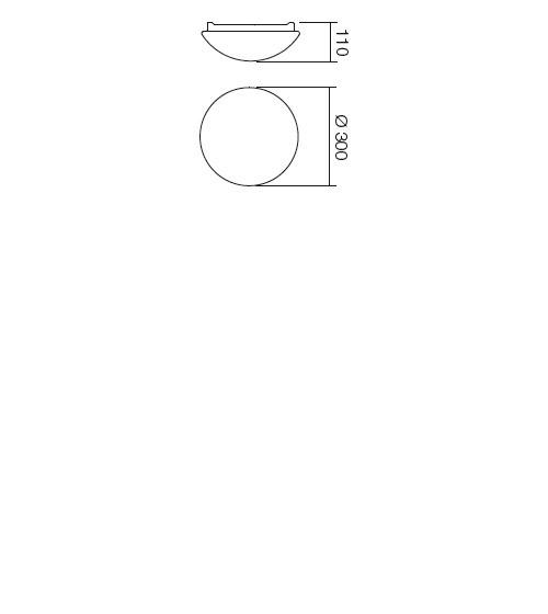 Redo Ibis 01-398 modern fürdőszobai mennyezeti lámpa / Redo / lámpák
