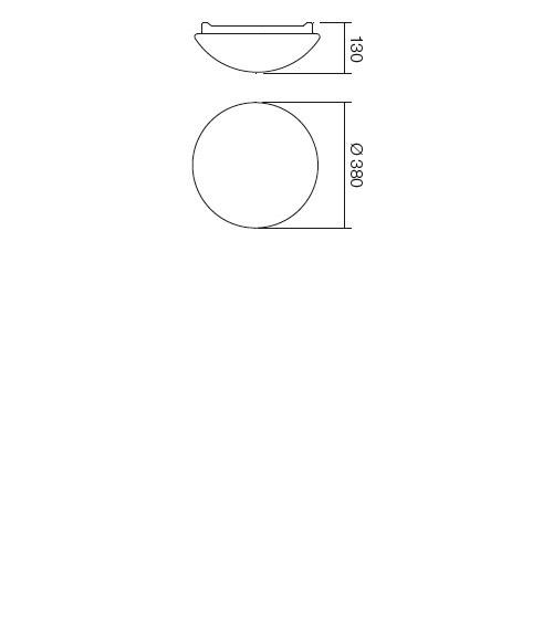 Redo Ibis 01-399 modern fürdőszobai mennyezeti lámpa / Redo / lámpák