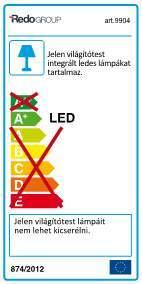 Redo Eclipse 9904 modern kültéri led fali lámpa / Redo / lámpák