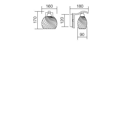 Redo Helen 01-654 modern fali kar / Redo / lámpák