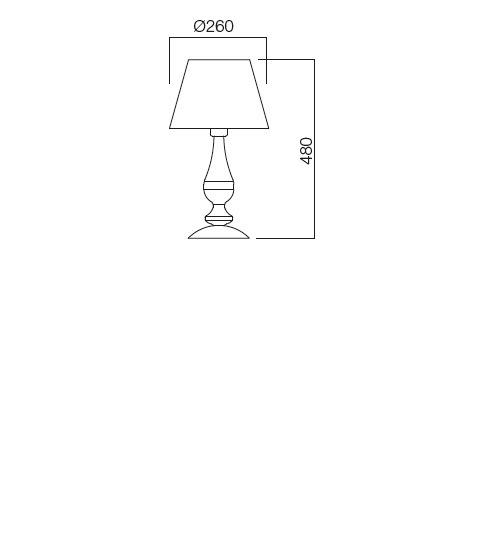 Redo Fabiola 02-713 rusztikus asztali lámpa / Redo / lámpák