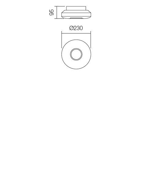 Redo Lunar 01-694 modern fürdőszobai mennyezeti lámpa / Redo / lámpák