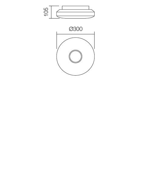 Redo Lunar 01-695 modern fürdőszobai mennyezeti lámpa / Redo / lámpák