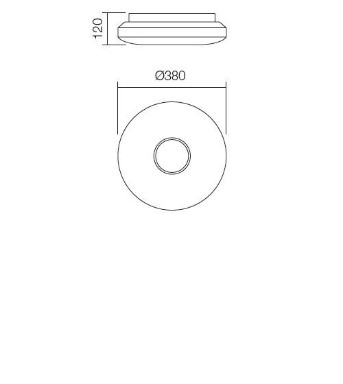 Redo Lunar 01-696 modern fürdőszobai mennyezeti lámpa / Redo / lámpák