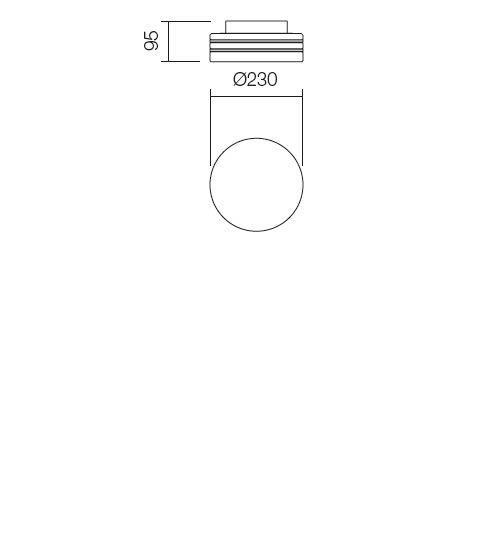 Redo Orbital 01-697 modern fürdőszobai mennyezeti lámpa / Redo / lámpák