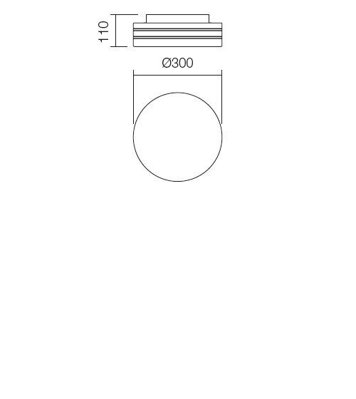 Redo Orbital 01-698 modern fürdőszobai mennyezeti lámpa / Redo / lámpák